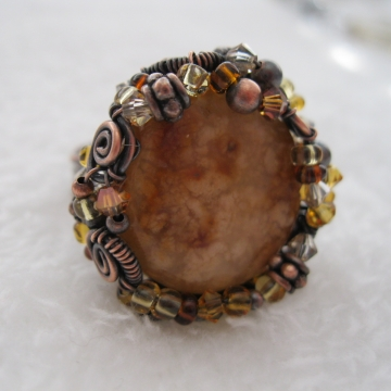 Oregon Snakeskin Agate and Copper